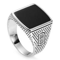 925 anillos de plata esterlina esmalte negro y zirconia cúbica blanca rave reseña noble generoso s - 3783 sz # 7 8 9 10 11 Exquisito regalo