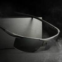 알루미늄 마그네슘 선글라스 Polarized Sports Men 자동차 운전사 거울 운전 Sun Glasses oculos 남성 사이클링 안경 액세서리 고글
