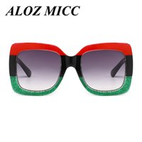 ALOZ MICC Luxury Brand Design Women Square Sunglasses Color ...