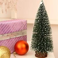 2015 новая перевозка груза падения L Рождественская елка Малая Сосенка. Помещенный Smallchristmas дерево 25 * 13см 75г / шт для Рождества крытый используется