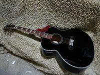 Schwarze akustische elektrische Gitarre beste Gitarre heiße chinesische Gitarre OEM Musikinstrumente Qualität billig