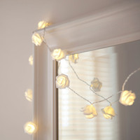 20 LED Battery Operated Rose Flower Bedroom Fairy Lights 1. 9...