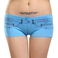 Atacado-Lot 12 pcs Everyday Ladies Panties bolso com zíper impressão Boxers Womens algodão Underwear Lingerie sem costura Boyshorts Shorts M L XL