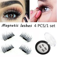 Magnetic Eye Lashes 3D Visone riutilizzabile False Magnet Extension Ciglia Estensione ciglia 3D Ciglia magnetiche 4 pz / set