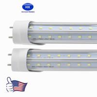 Wholesale V-shaped led tubes lights 4ft 5ft 6ft 8ft t8 g13 double lines led light tubes for cooler lighting AC 85-265V UL DLC
