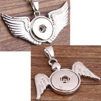 2020 Nouveaux chaud Bouton Wing Bijoux Pendentif 2 Styles bricolage Interchangeable Snaps pendentif pour collier