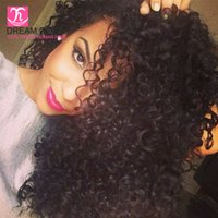 cheap brazilian hair kinky curly hair curly with lace closur...