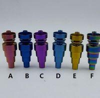 1 stücke Premium Titan Universal sicher anodisiert Nagel 6 in 1 10mm 14mm 19mm