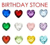(120PCS ، 240PCS ، 480PCS) / الكثير 12 الألوان كريستال القلب الأحجار عيد الميلاد العائمة سحر للعيش قلادة الزجاج المنجد