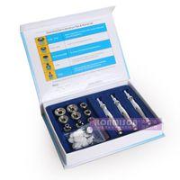 Portable Microdermabrasion Tips med 3 Diamond Wands och 9PCs Diamant Tips för Skin Peeling Skönhetssalong Verktyg Gratis Frakt Diamant Machine