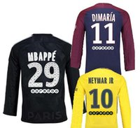 17 18 PSG Long sleeve shirt NEYMAR JR soccer jerseys 2017 Lo...