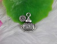 100 stücke Antikes Silber Geschnitzte Parfüm Flaschen Charms Anhänger Legierung Für Armband Halskette Modeschmuck, Perlen DIY Zubehör N492