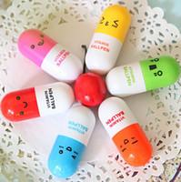 러블리 카와이 환약 개폐식 볼펜 귀여운 학습 문구 학생 비타민 알약 노리개 학생 경품 송료 무료