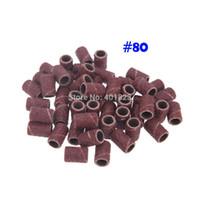 1000pcs / pack Nail Drill per Nail art Levigatura per manicure per unghie Manicure Pedicure Machine # 80