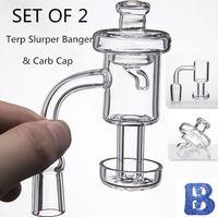 Set Terp Vacuum Quartz Banger Carb Cap Terp Slurper Banger 10mm 14mm 18mm Chiodo senza casa per bong di vetro