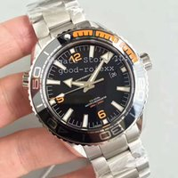 OM Factory Mens Automatic Orange Ceramic Bezel Watch Co Axia...