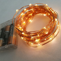 10M 33FT 100 led 3 AA Battery Powered Decoration LED Copper ...