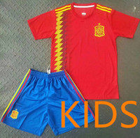 2018 Spain Soccer Jersey 17 18 KIDS Spain kits home MORATA I...