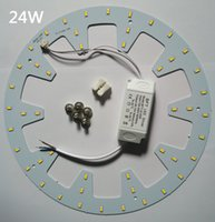 12W 15W 18W 20W 24W LED 패널 라이트 보드 SMD 5730/5630 LED 라운드 천장 보드 원형 램프 보드 + 전력 드라이버 + 자기