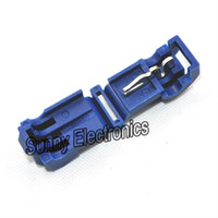venta al por mayor 500 Blue 16-14 AWG T-TAPS CONECTORES RÁPIDOS DEL EMBRAGUE SCOTCH LOCK WIRE TERMINAL CRIMPS
