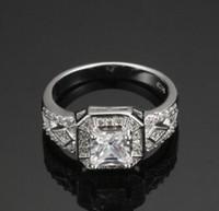 2.00ct rund-cut lad diamant halo bruduppsättning förlovningsring 10k vit guld fylld