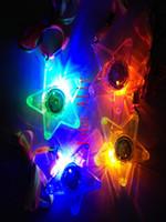 Горячие продажи 300 шт. / лот светодиодные светящиеся маленькая звезда ожерелье мигает висит свет вверх детские игрушки день рождения выступает Freeshipping