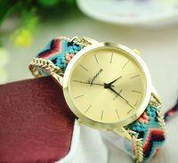International Geneva Horloges Mode Handgemaakte Touw Armband Dameshorloge Hand-Weven Polshorloge Dames Quarzt Clock for Boy Girl Gift