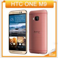 """أعلى بيع مقفلة الأصلي HTC ONE M9 رباعية النواة 5.0 """"شاشة تعمل باللمس الروبوت GPS WIFI 3GB RAM 32GB ROM الهاتف المحمول"""