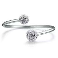 925 Sterling Silver Produkter Smycken Smycken Petty Crystal Shambhala Bracelets Bangle Bröllop Vintage Open Design Infinity Charms
