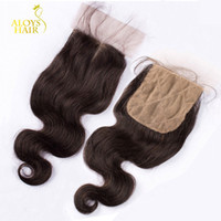 Silk Base Closure 8A Brazilian Malaysian Peruvian Indian Cam...