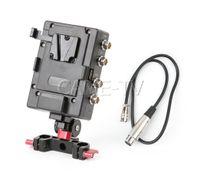 Système d'alimentation de plaque de batterie à montage en V CAME-TV Tige 15mm VM03