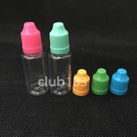 childproof 모자, 전자 액체 빈 스포이드 병 무료 배송 병 PET 플라스틱 전자 액체 병, 20 ㎖ 적기 병 eliquid