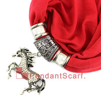 New Design Rhinestone Horse Jewelry Pendant Scarf Fashion Wo...