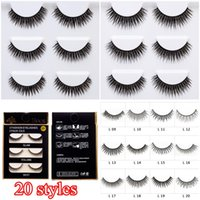 20 Styles Mink False Eyelashes 3D Cross Thick False Eye Lash...