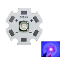 Epileds 8W 5050 Purple UV 395-400nm Led Chip Light 3.4-3.8V 2-2.6A 16MM / 20MM negro / blanco PCB Board 50pcs / lot