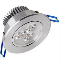 Wbudowany LED Downlight 3 W 6W 9W Ściemniana lampa sufitowa AC85-265V Biały / ciepły biały LED DOWN LAMP ALUMINIUM CIEPŁA CENYND LAM LED