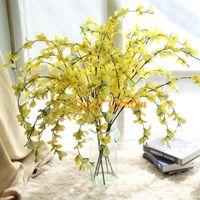 結婚式の家の装飾事務所の装飾のための黄色い冬ジャスミン人工ジャスミナムNudiflorum花パーティーの花