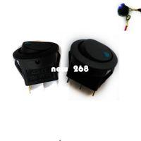 Commercio all'ingrosso 100PCS Auto Auto 12 V 12 Volt Rotondo Rocker Dot Barca LED Blu Luce SPST Toggle Switch ON OFF