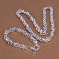 Alto grado de plata de ley 925 Leading pieza A - Hombres de la joyería de la marca DFMSS049 nuevo directo de la fábrica 925 pulsera collar de plata