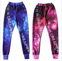 Men women' s joggers sport jogging pants 3D starry sky p...