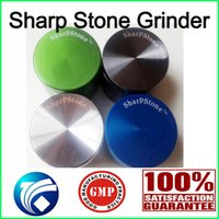 Authentiques sharpstone Grinders herbe meuleuses de moulins à tabac 4 parties Hard top Grinders du tabac Diamètre 40mm / 50mm / 55mm / 63mm / 75mm 5colors