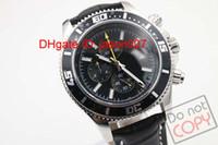 Gorąca Sprzedaż Luksusowe Szwajcarskie Zegarki Marki Kwarcowy Chronograf Superceada Zegarek Mężczyźni Racer Otchłani Męskie Zegarek Cassic Wristwatch Black Dial Skórzany pasek