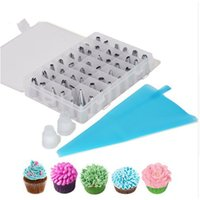 51pcs set Dessert Decorators Silicone Icing Piping Cream Pas...