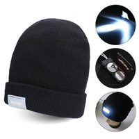 Free DHL Led Winter Beanie fashion led glowing knitted caps ...