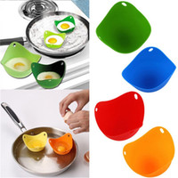 4X Kitchen Silicone Egg Poacher Cups with Ring Standers Mold...