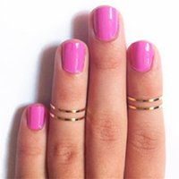 Women Band Ring Midi Ring Urban Gold Stack Plain Cute Above Knuckle Nail Ring Christmas Gift