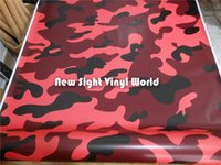 Elite Red Jumbo Camouflage Vinile Wrap Film Rosso Camo Vinyl Roll Bubble Free per Car Wraps Formato: 1.50 * 30m / Roll