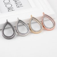 5PCS Lot Drop Crystal Glass Living Floating Locket Pendant F...