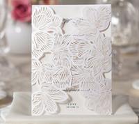 Tarjetas de invitación personalizadas Invitaciones de boda florales Invitaciones de boda para imprimir personalizadas Tarjetas de felicitación cortadas con láser Shippin gratis