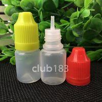 Petrol çiğ Toptan PE Plastik Damlalık Şişe e 5ml pe damlalık çocukların açamayacağı Cap ile şişe ve uzun ince ucu Şişe